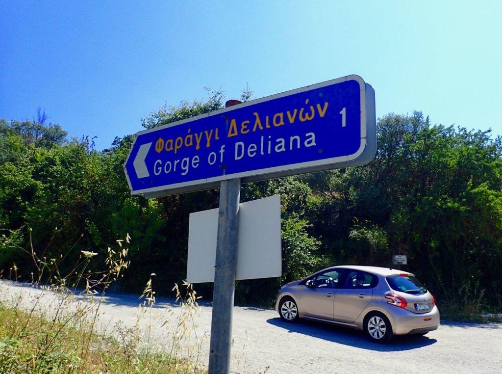 Deliana Gorge sign car