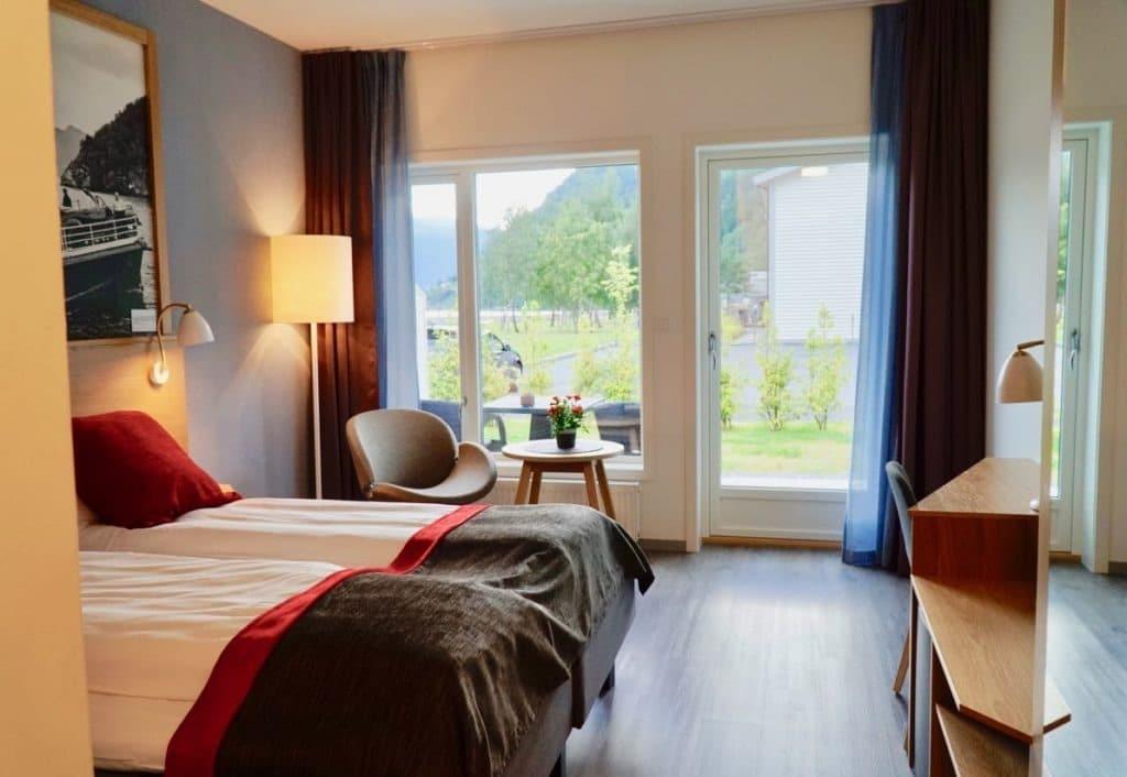 Valldal fjordhotel room fjord review