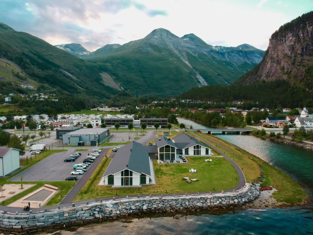 Valldal Fjordhotell drone air review