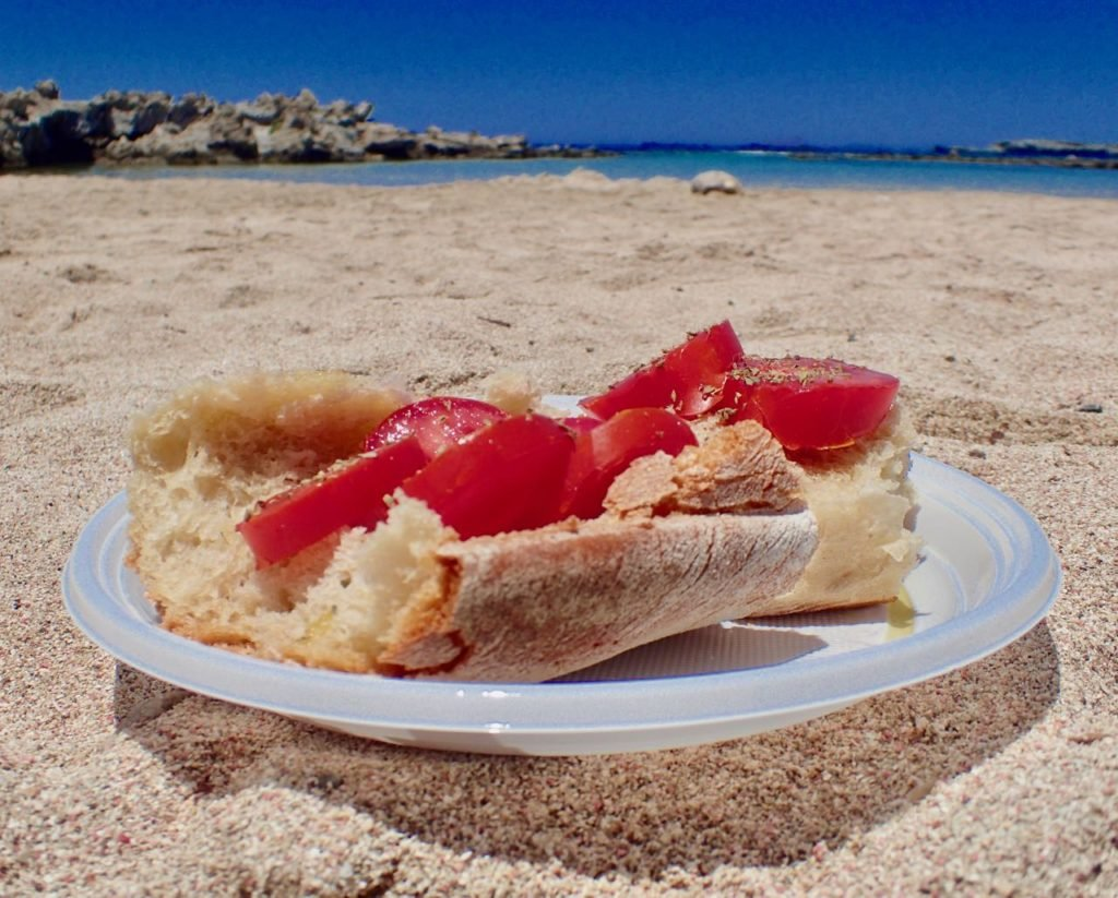 Kissamos beach secret pink lunch
