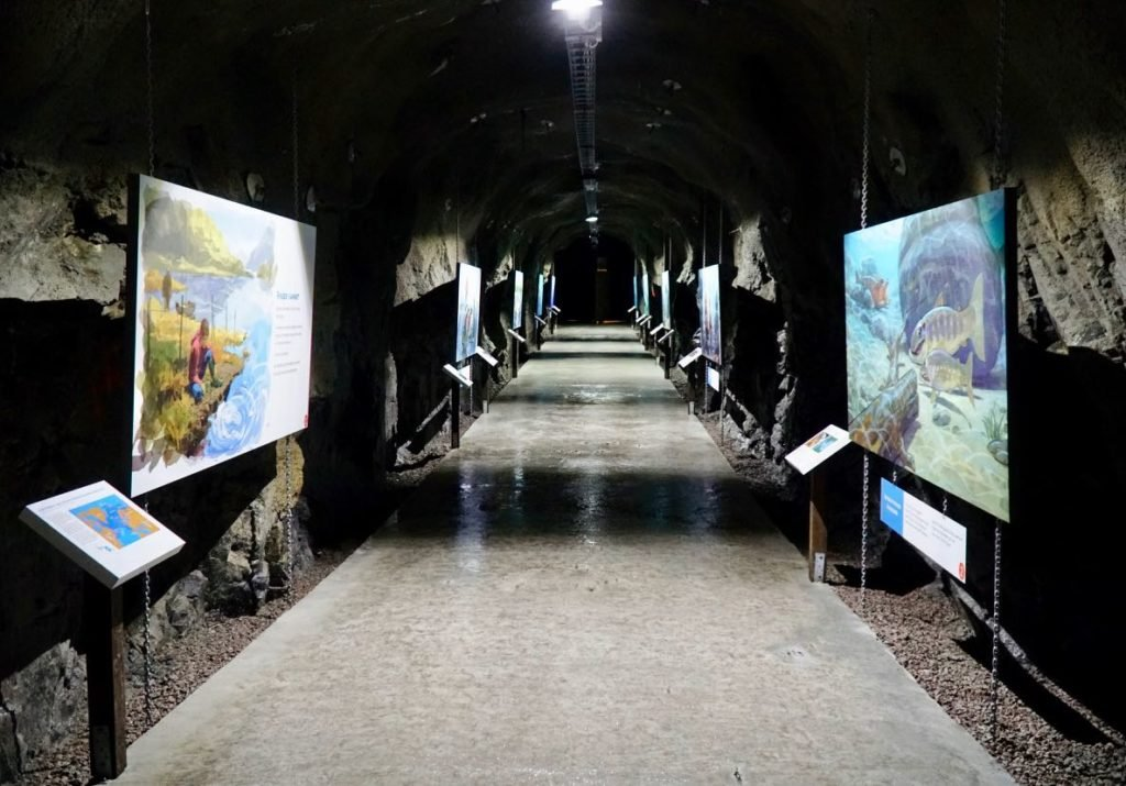 Kvåsfossen visitor center underground review