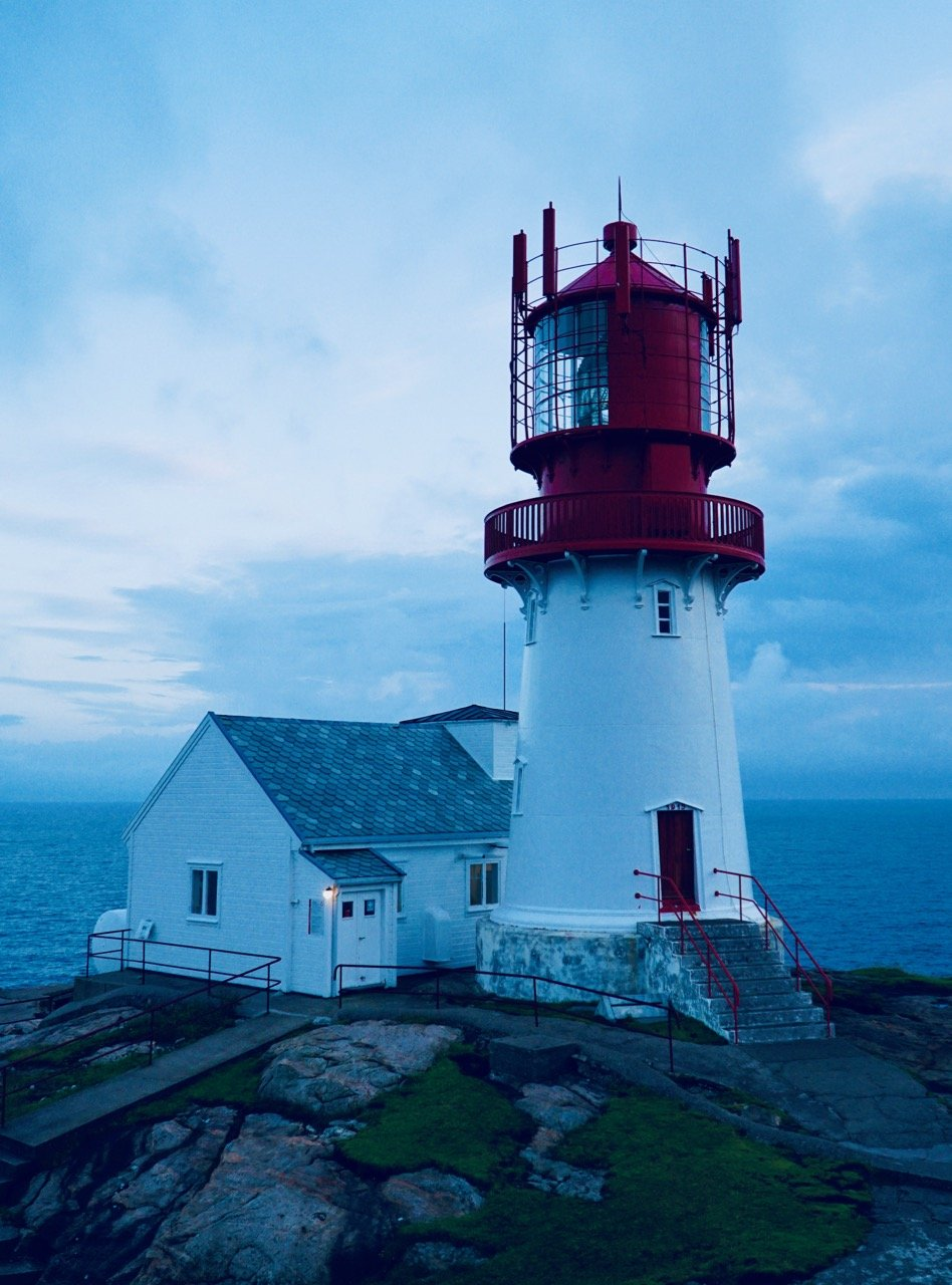 Lindesnes lighthouse blue hour