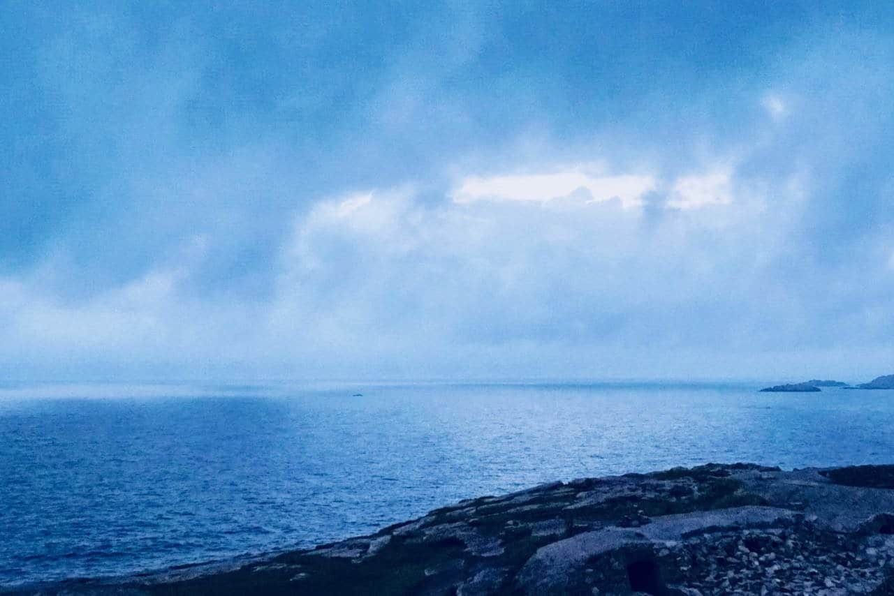Road trip Norway blue hour Lindesnes