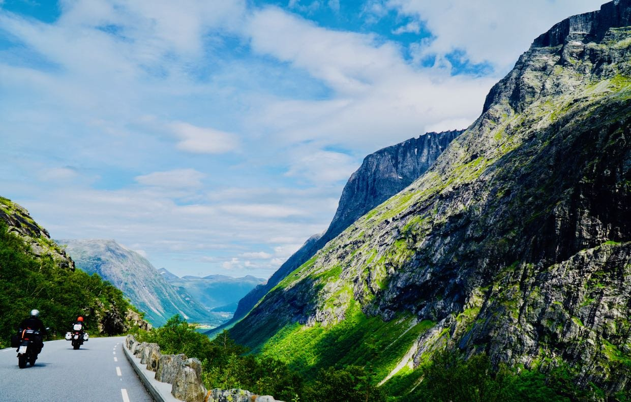 Road trip Norway driving conditions Trollstigen
