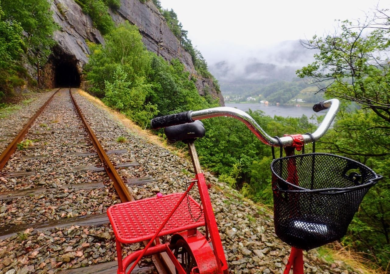 Road trip Norway Flekkefjordbanen rail bike