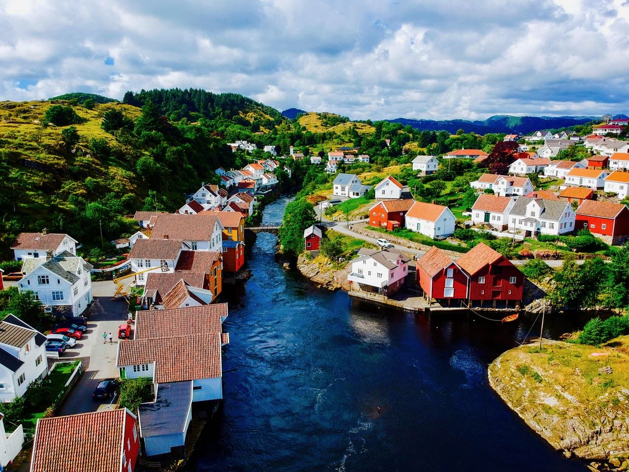 Road trip Norway Sogndalstrand drone photo