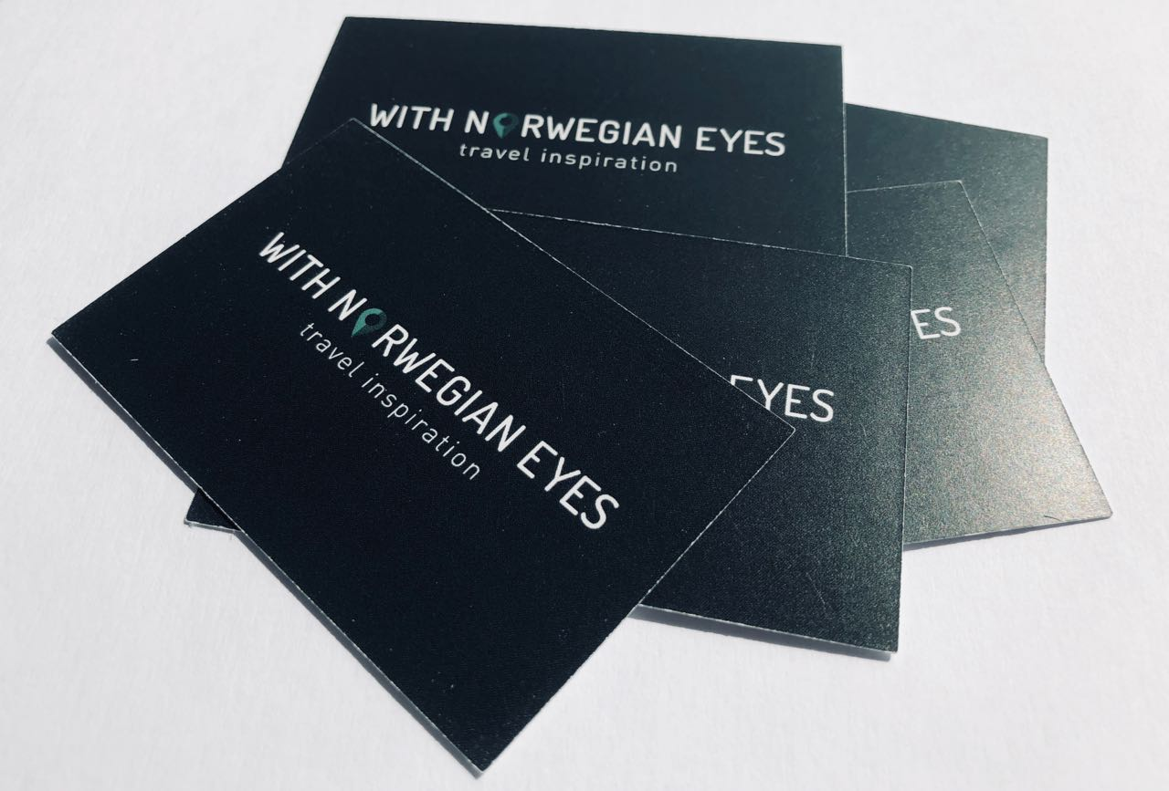 With Norwegian Eyes business cards