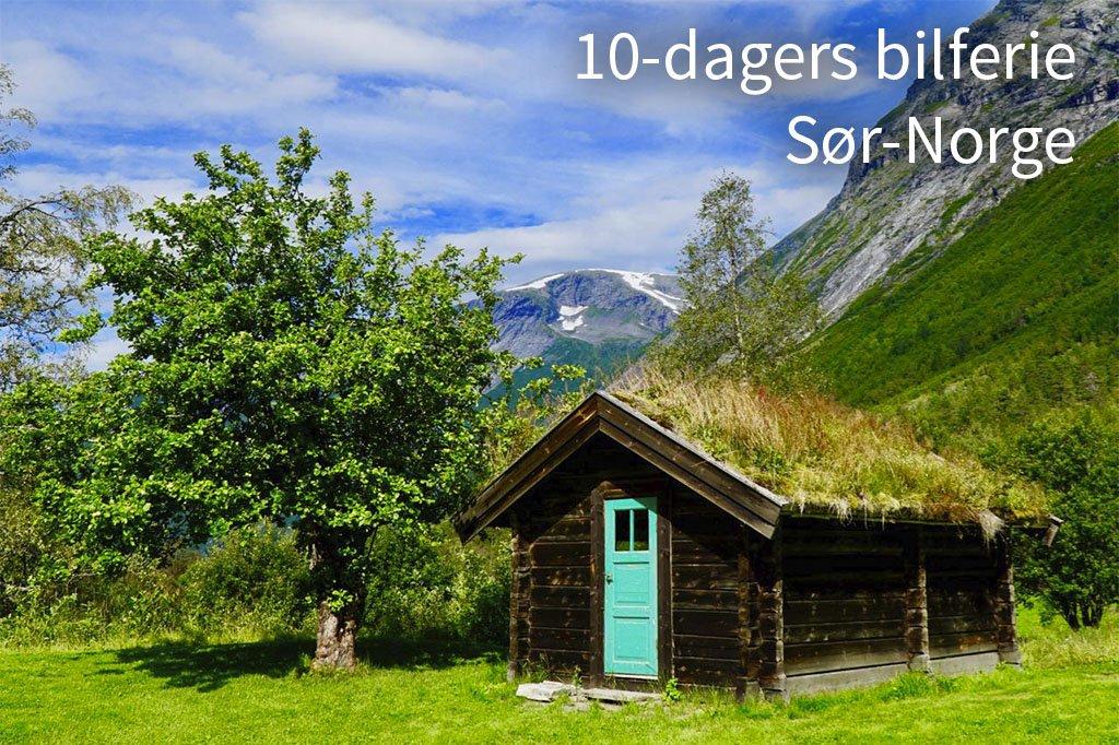 10-dagers bilferie Sør-Norge