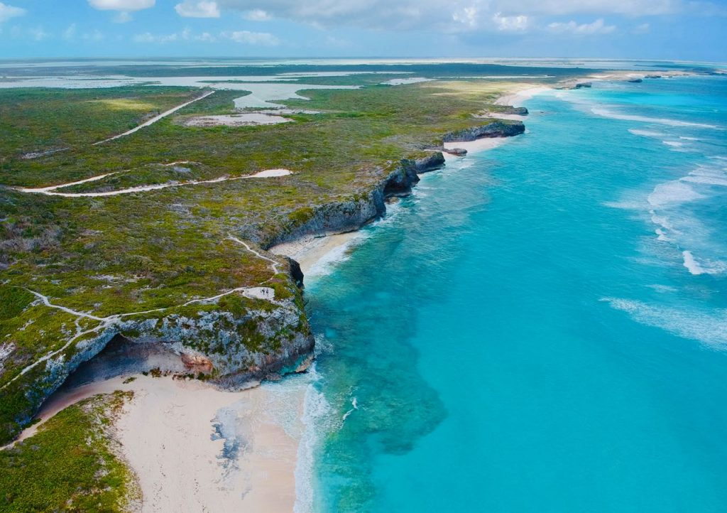All you need to know day trip north middle caicos mudjin harbour drone picture