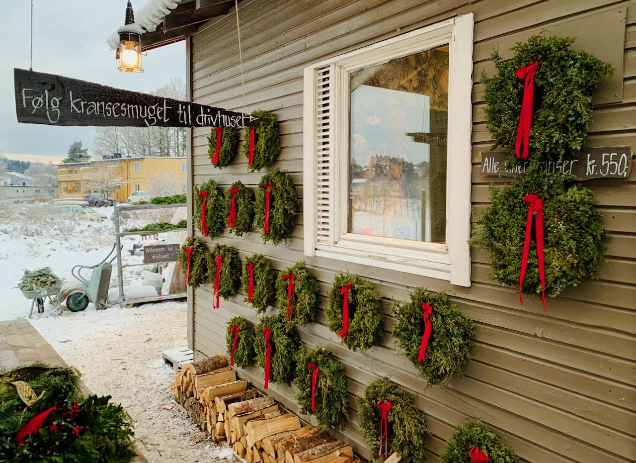 The Blomsterhagen in Abildsø Christmas Market
