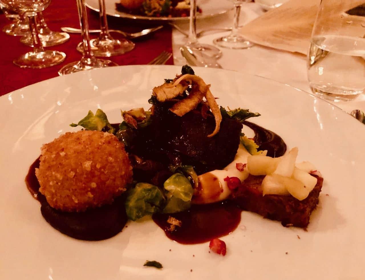 Thorskogs slott castle Christmas dinner