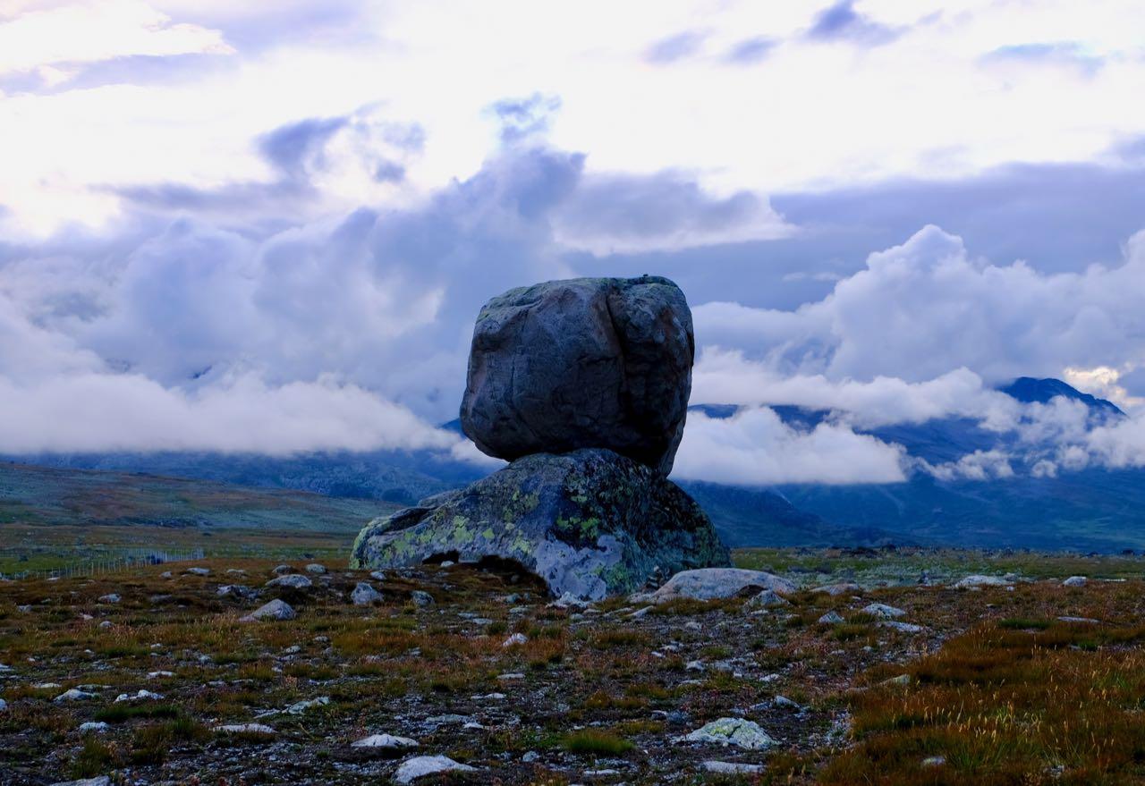 5-day Road Trip From Oslo Norwegian Scenic Route Valdresflye Rock on top of another Rock Steinplassen