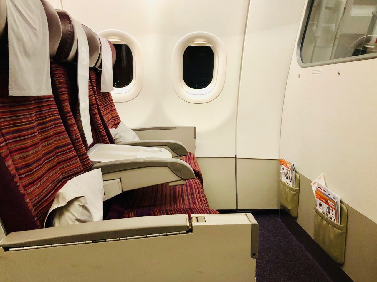 Review Thai Smile Airways Plus seat