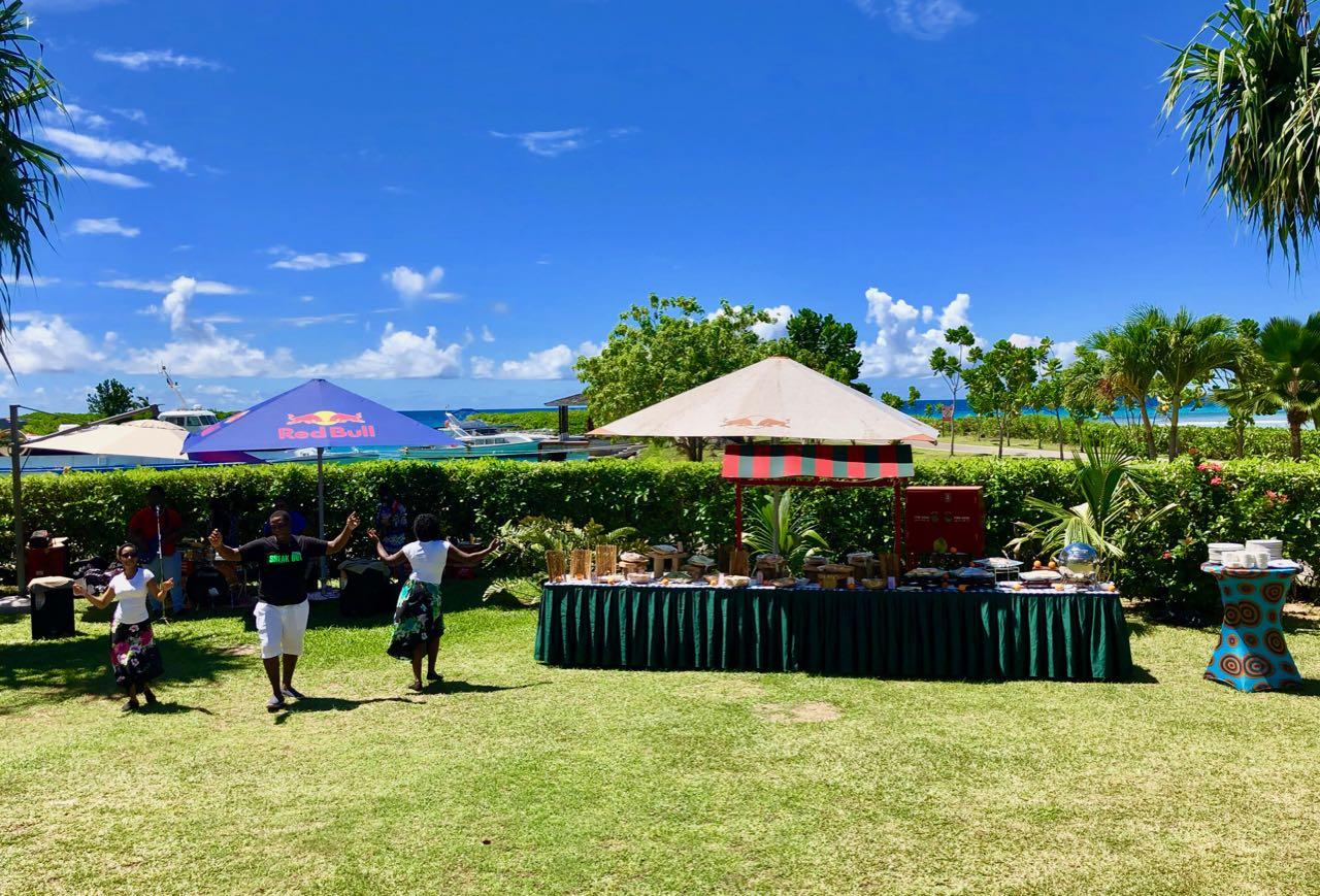 Grann Kaz lunch Hilton Seychelles Labriz Silhouette Island