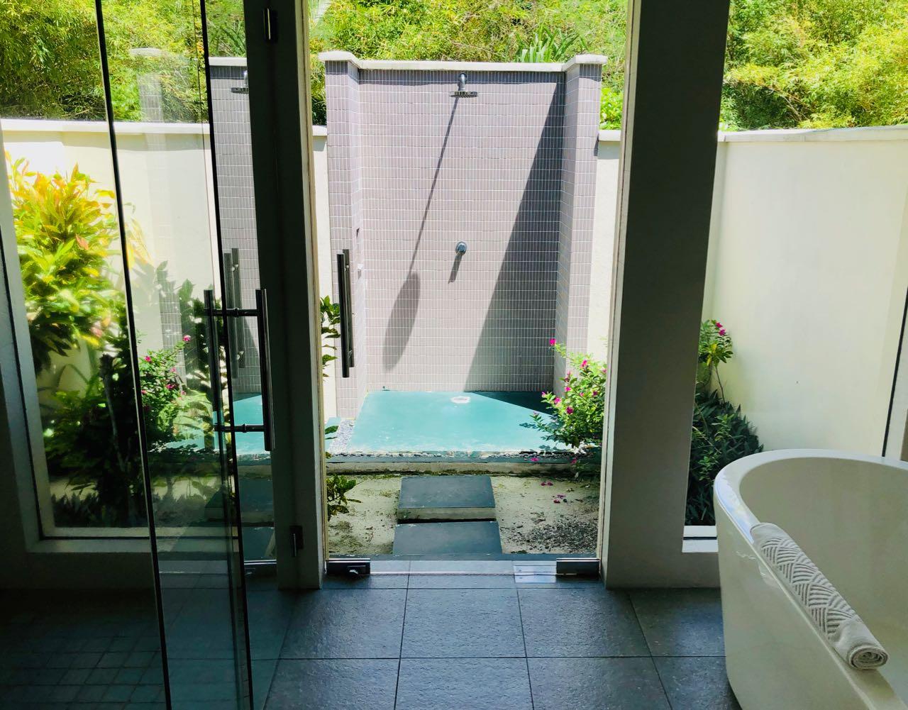 Outdoor Shower Hilton Seychelles Labriz Silhouette Island