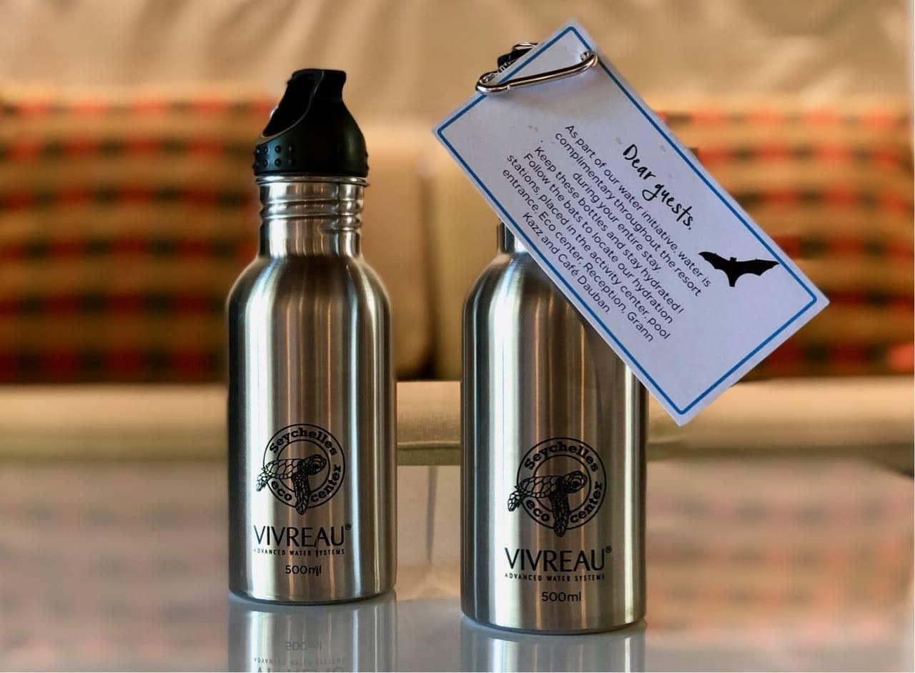 Water bottles Hilton Seychelles Labriz Silhouette Island