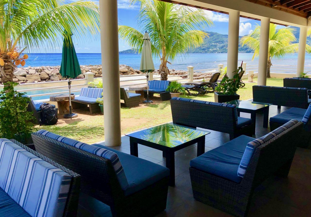 Ferry dock Hilton Seychelles Labriz Silhouette Island