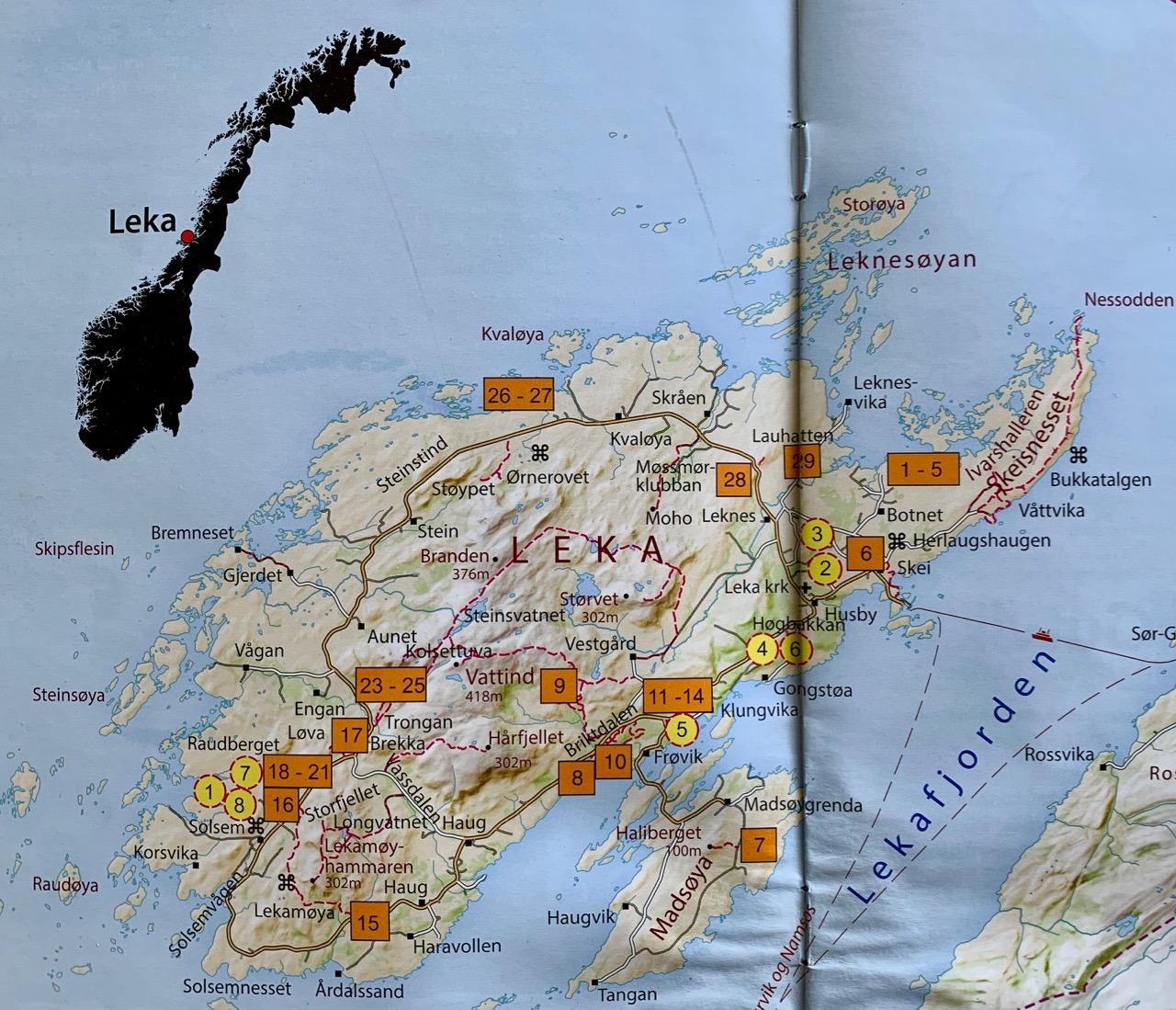Map of Leka
