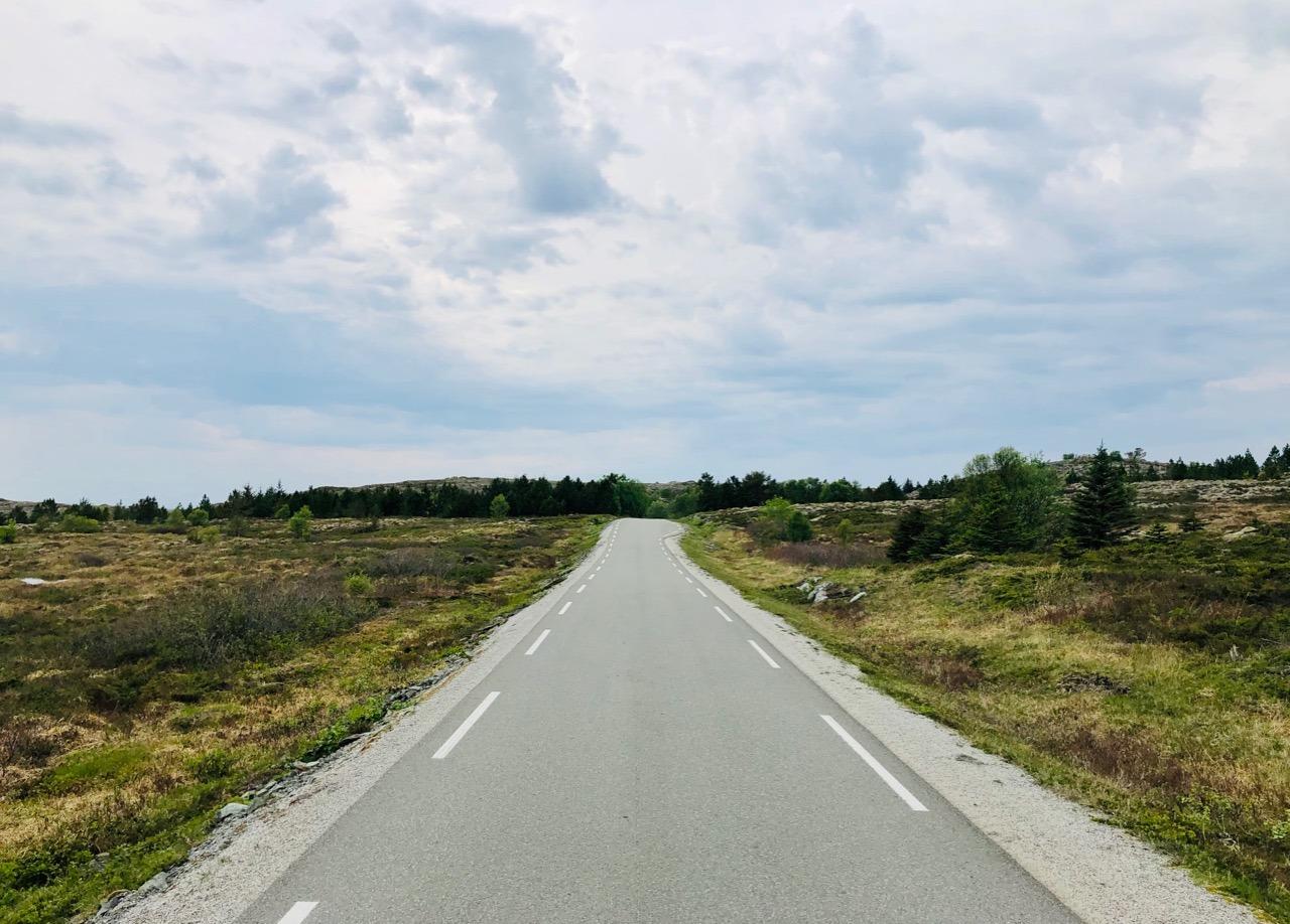 Biking on Leka coastal landscape