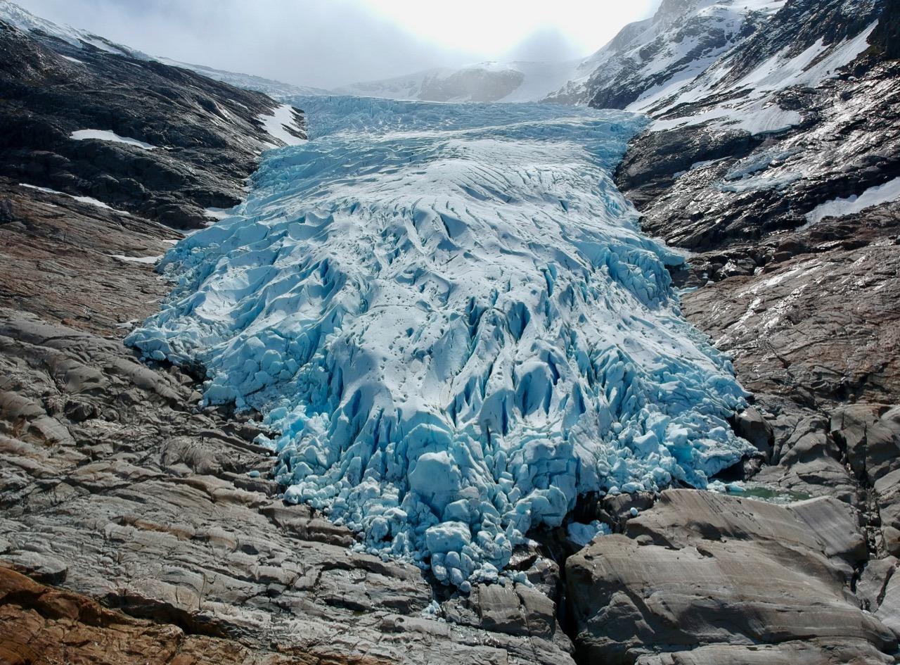 Svartisen Engabreen glacier
