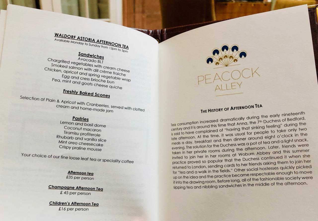 Review Afternoon Tea Menu Peacock Alley Waldorf Astoria Edinburgh