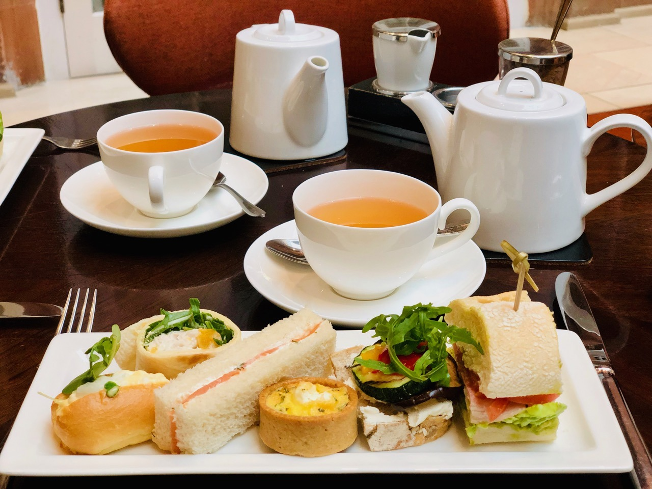 Review Afternoon Tea Sandwiches Peacock Alley Waldorf Astoria Edinburgh