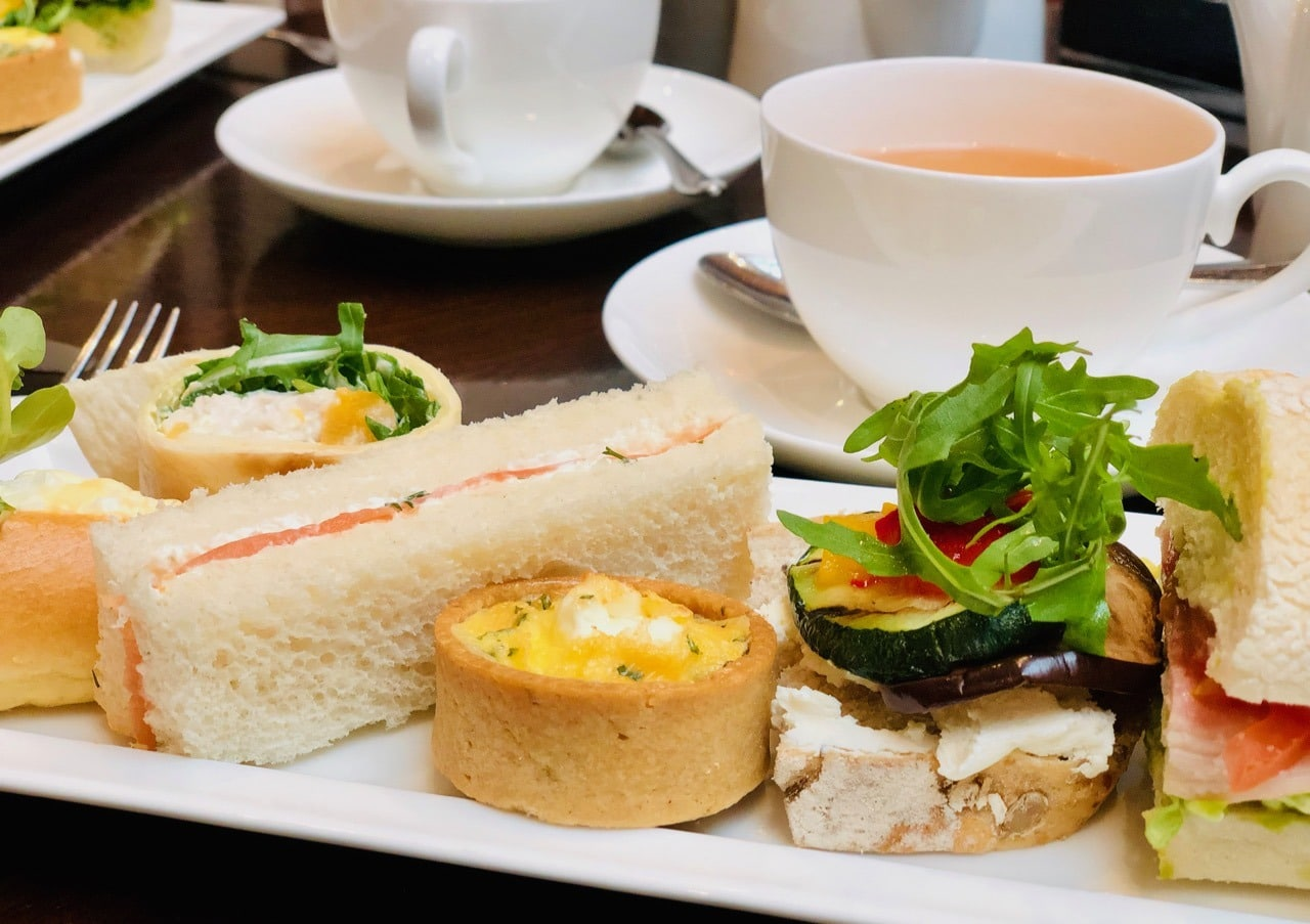 Review Afternoon Tea Sandwiches and Savoury Peacock Alley Waldorf Astoria Edinburgh