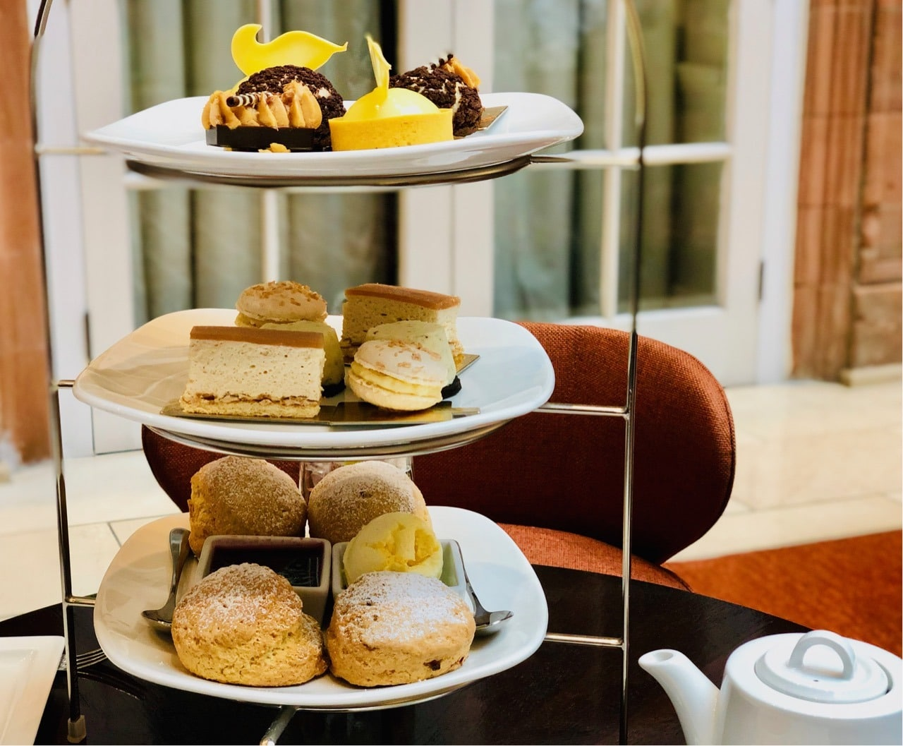 Review Afternoon Tea Cakes and Scones Peacock Alley Waldorf Astoria Edinburgh