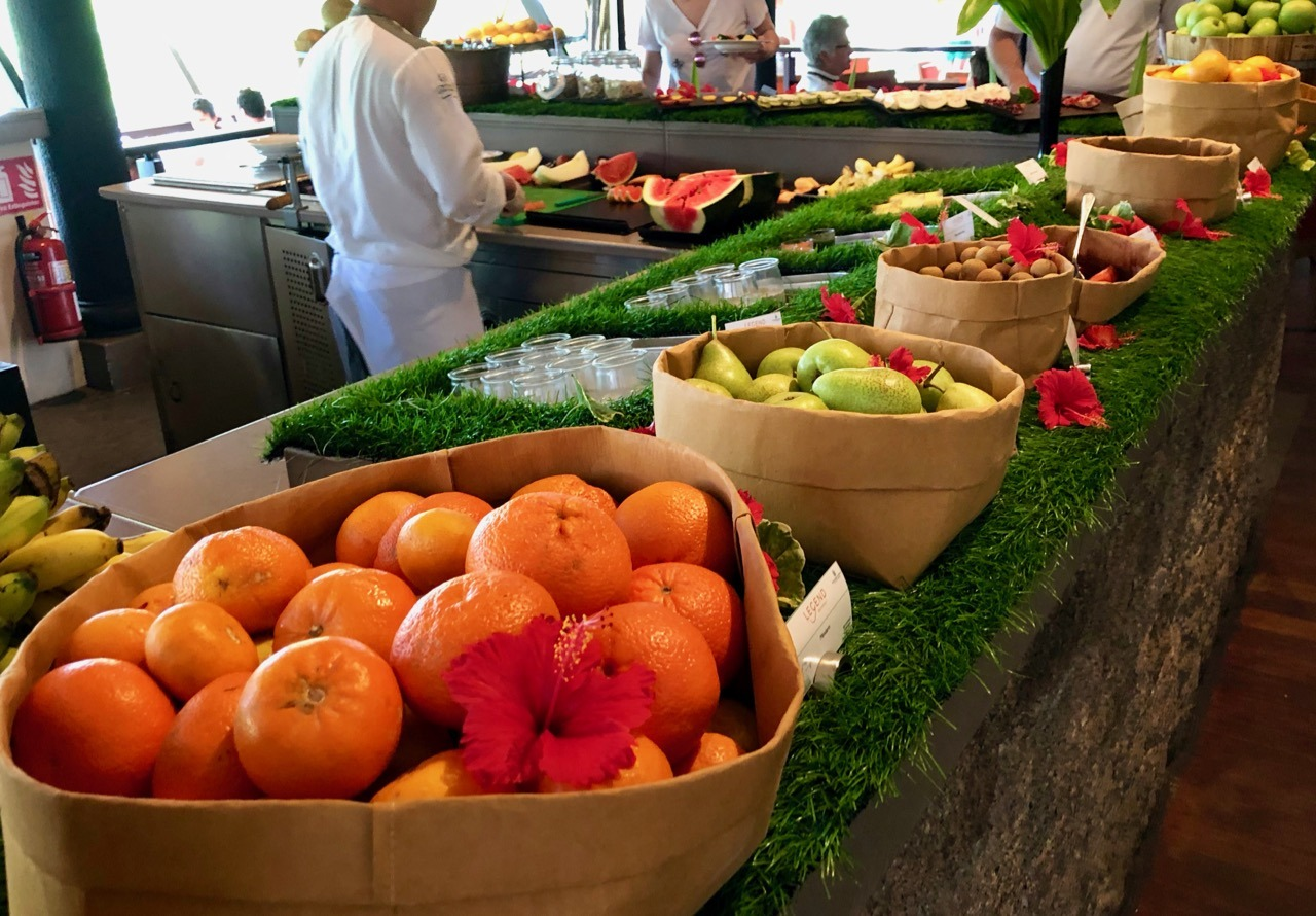 Constance Lemuria breakfast buffet fruit