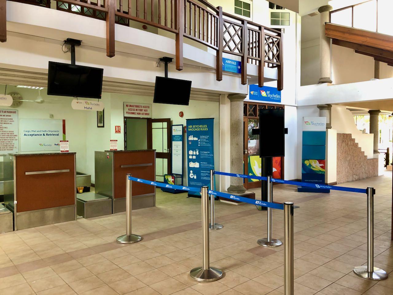 Review Air Seychelles Mahe Praslin check in Praslin