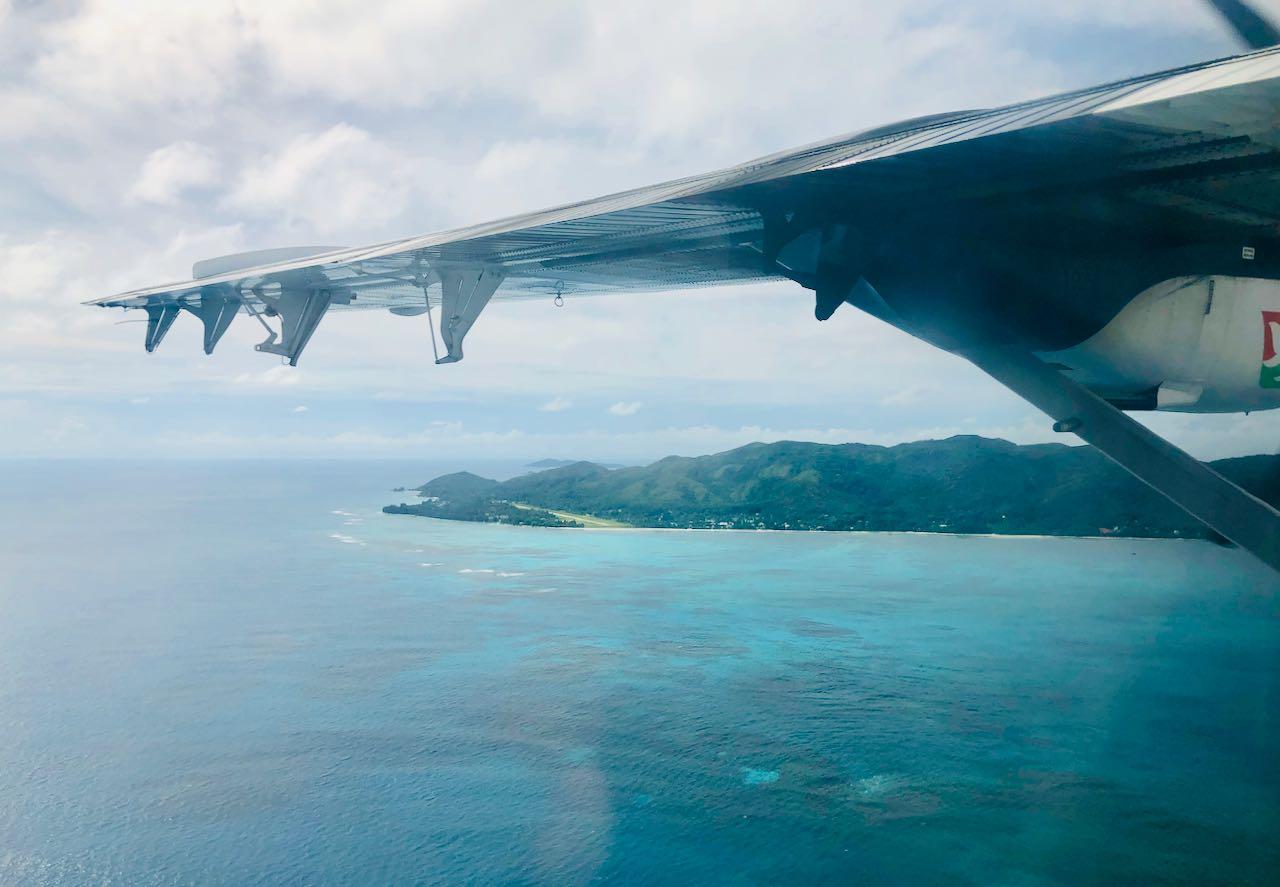 Review Air Seychelles Mahe Praslin view