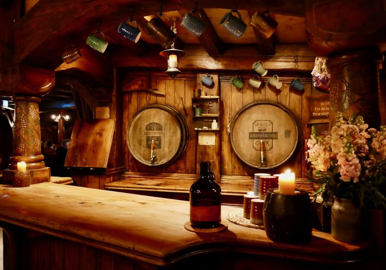 The Green Dragon pub Hobbiton Evening Banquet Tour