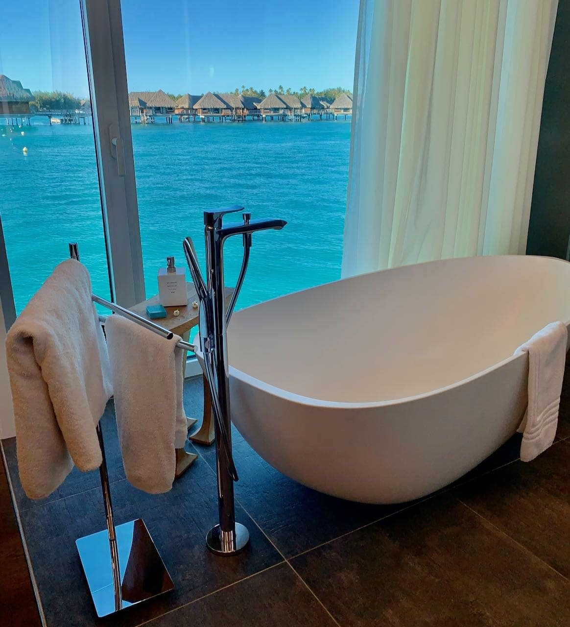 Bathtub The Brando Suite at the InterContinental Bora Bora Thalasso Review