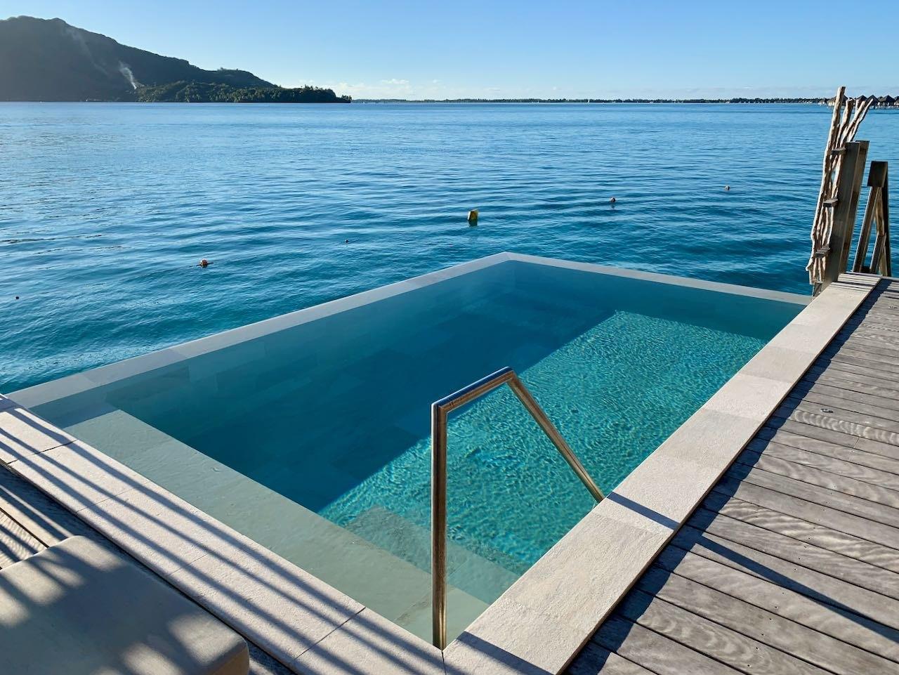 Private pool terrace The Brando Suite at the InterContinental Bora Bora Thalasso Review