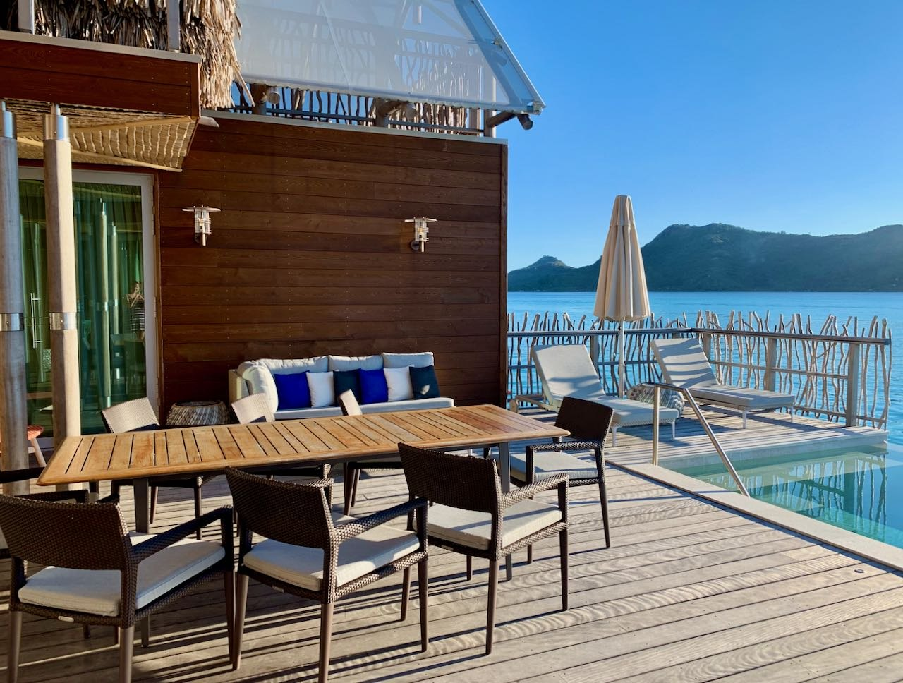 Sun terrace The Brando Suite at the InterContinental Bora Bora Thalasso Review