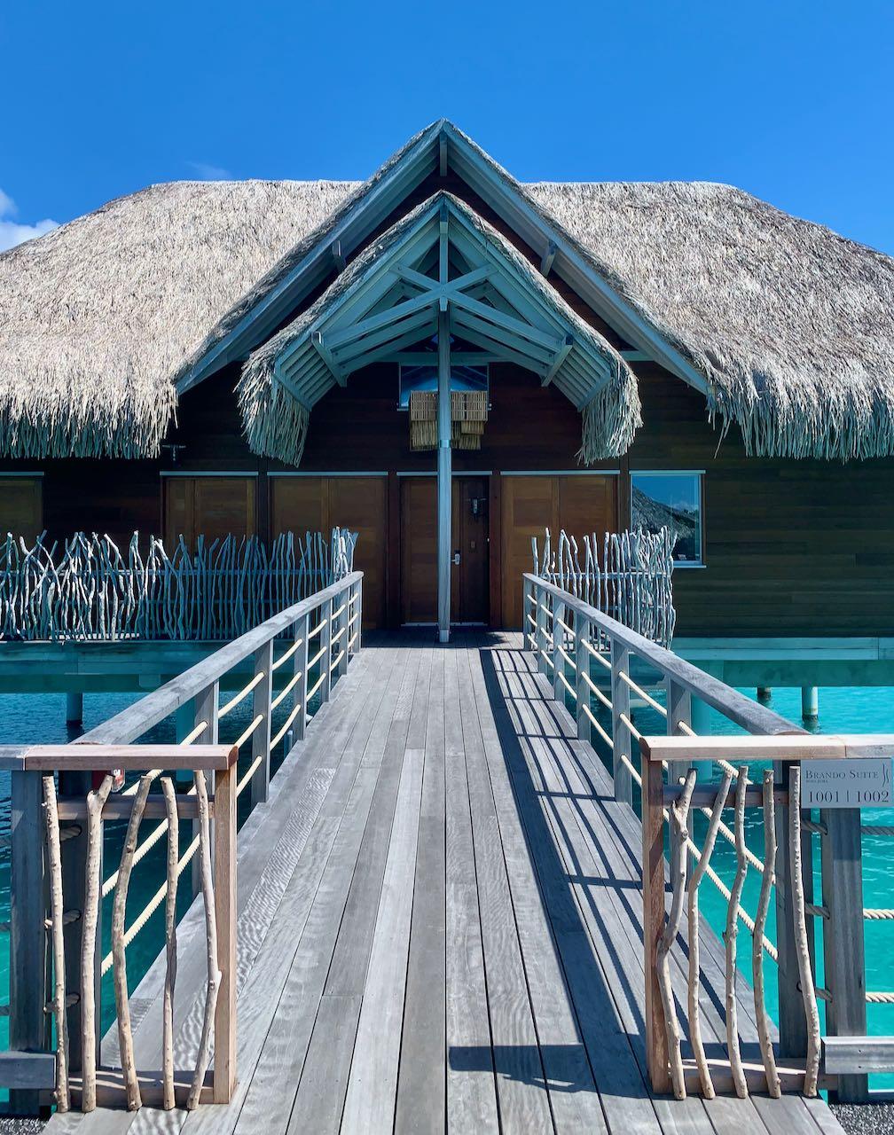 Enterance The Brando Suite at the InterContinental Bora Bora Thalasso Review