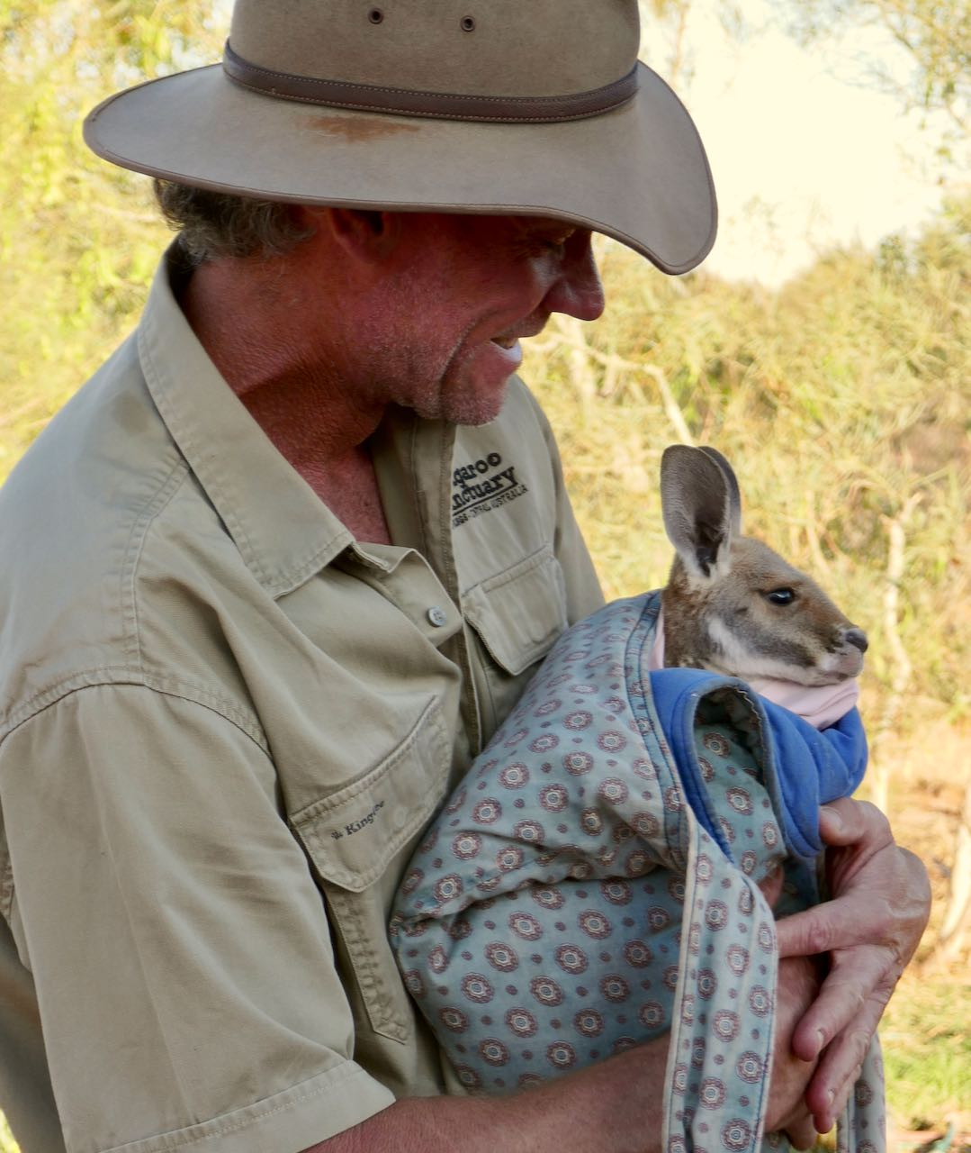 Kangaroo Sanctuary Sunset Tour Chris Brolga Kangaroo Dundee Joey