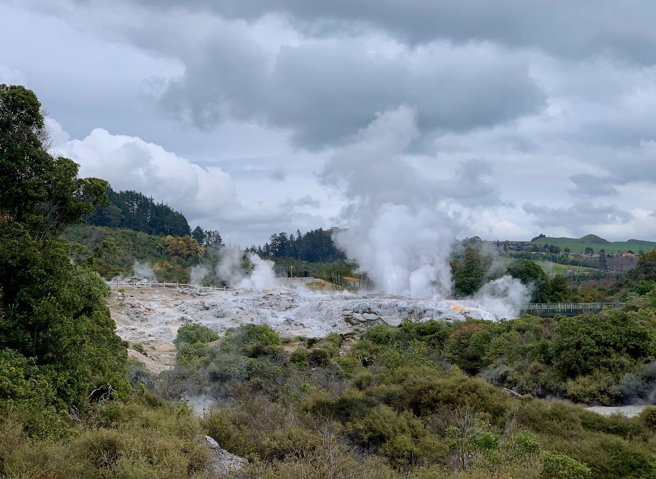Pōhutu geyser, Whakarewarewa, a Geothermal Māori Village
