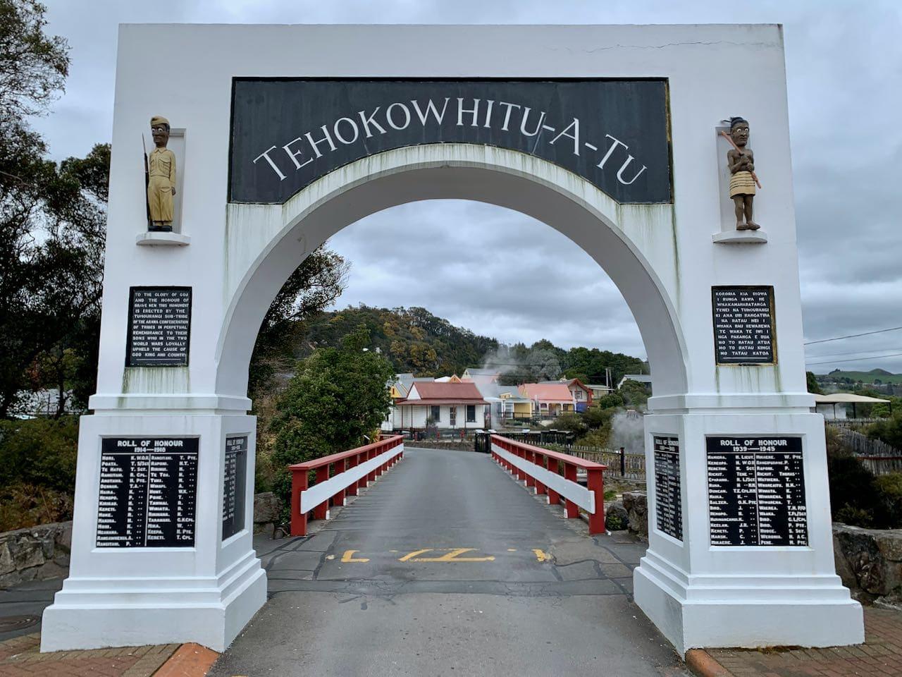 Enterance Whakarewarewa, A Geothermal Māori Village