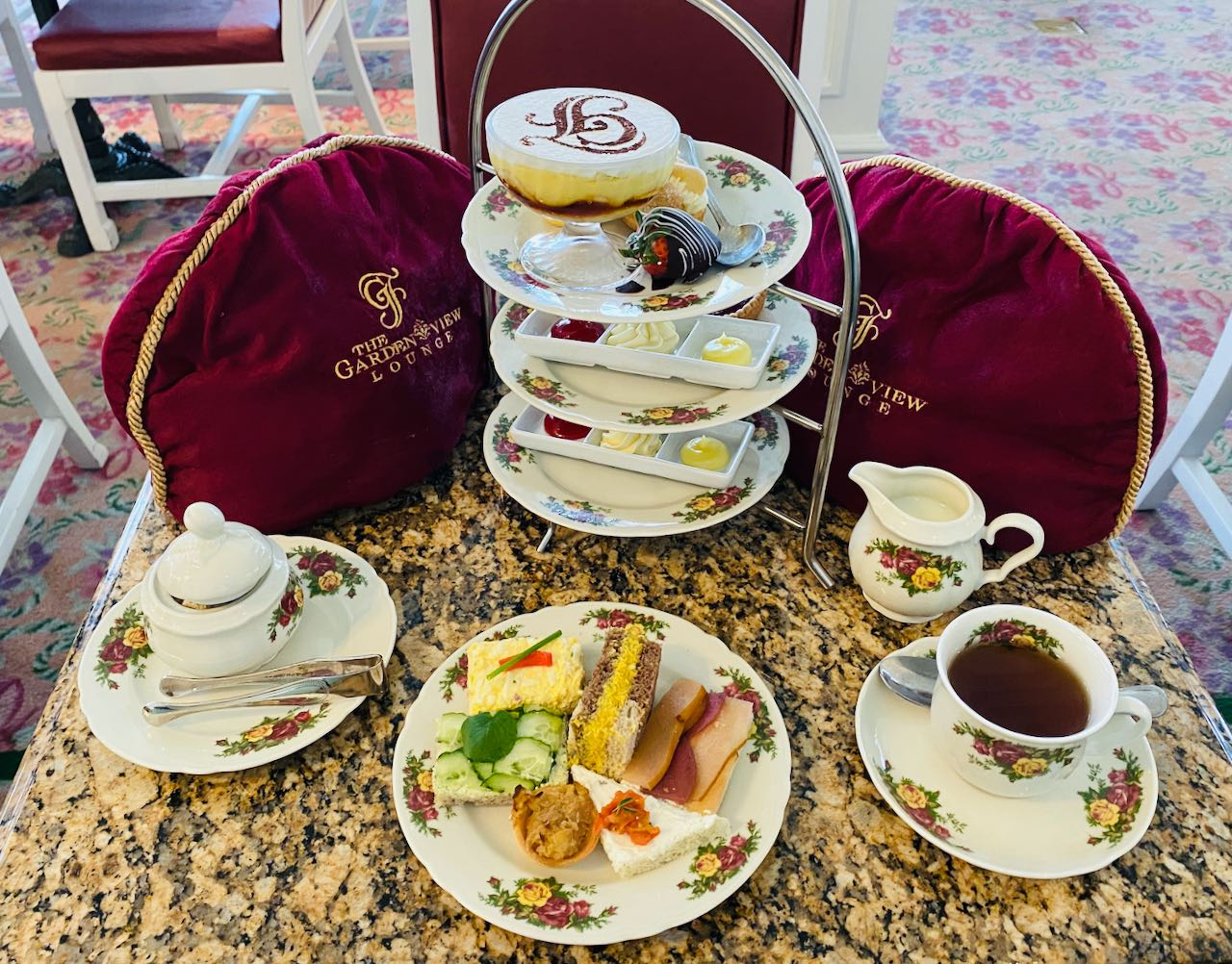 Table setting Afternoon Tea Disney's Grand Floridian Resort & Spa Orlando review