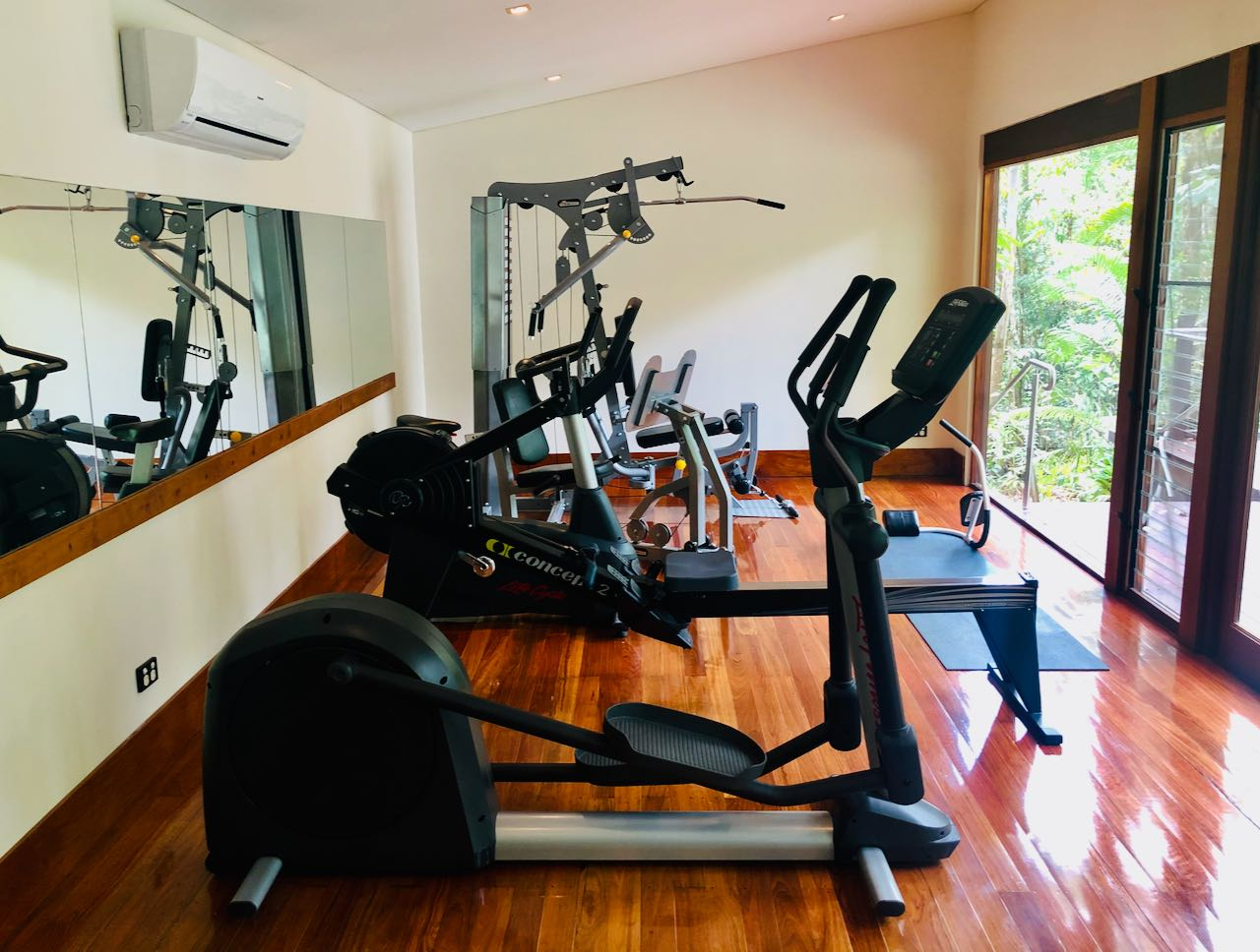 Fitness room Silky Oaks Lodge review