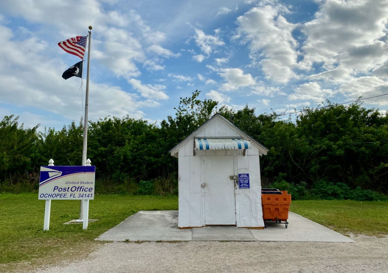 Ochopee Post Office Attractions and Places to Stop Along the Tamiami Trail/U.S. Highway 41