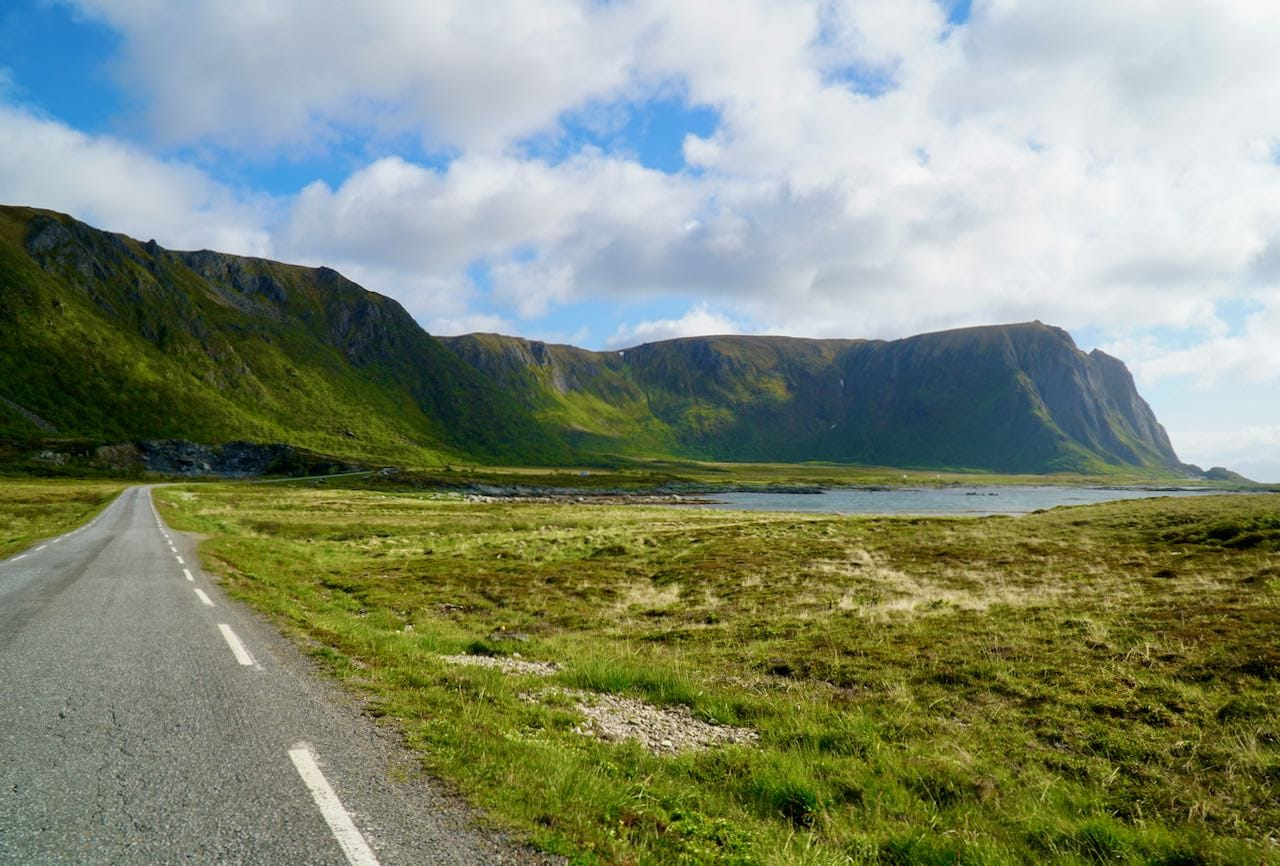 norwegian scenic route andøya view of road and mountain