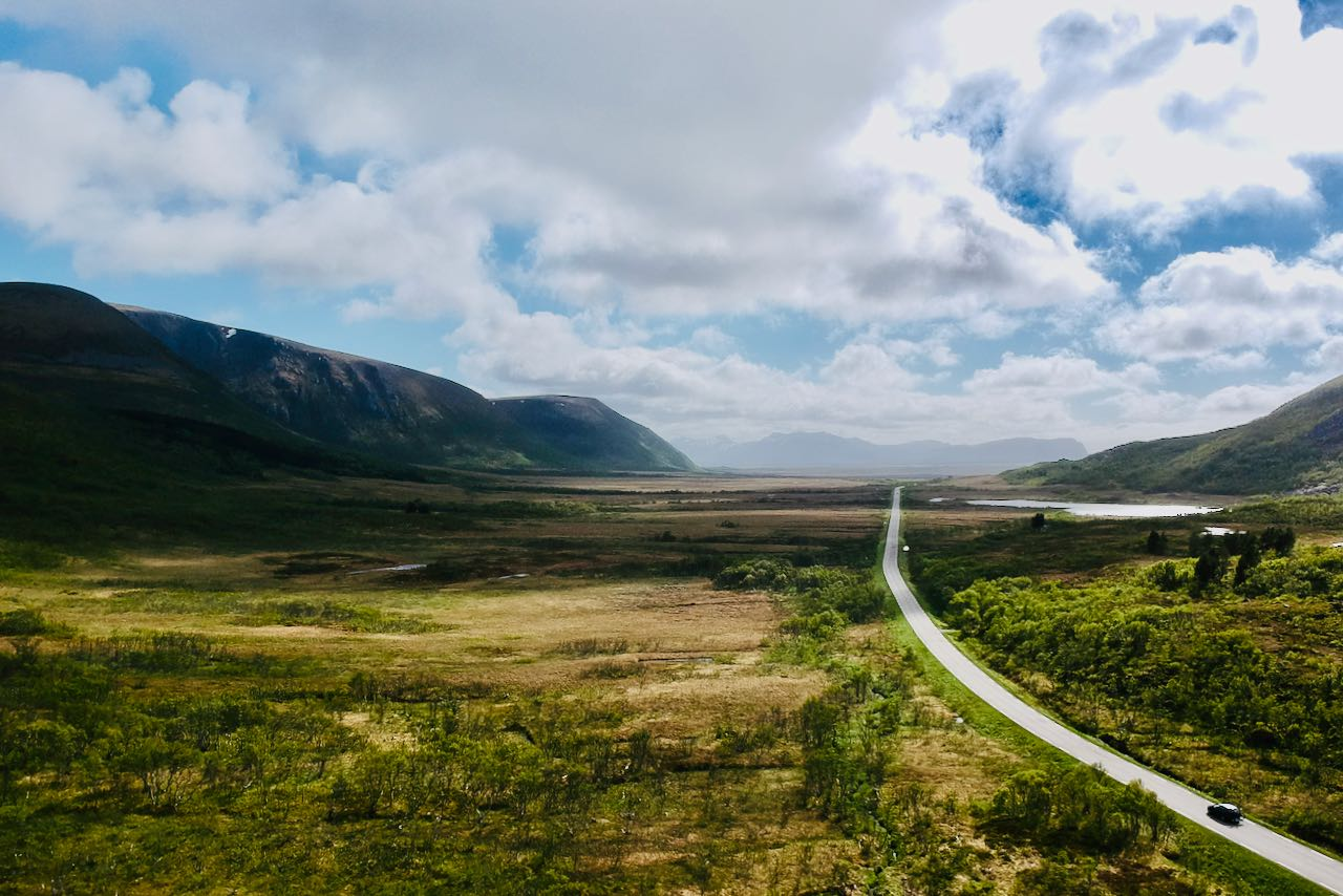 norwegian scenic route andøya view of road and landscape