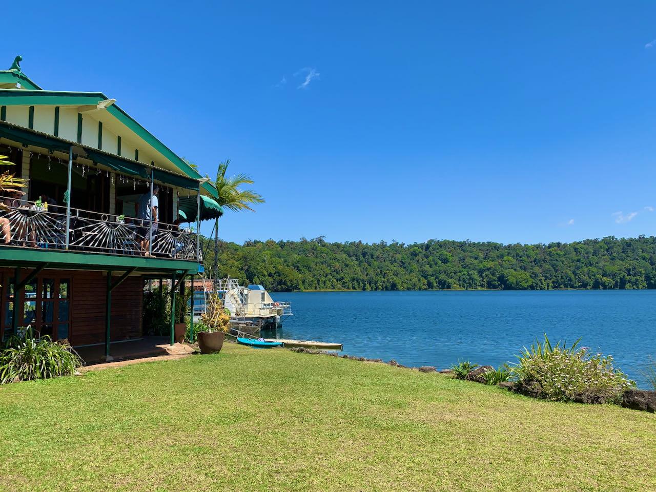 Cairns Road Trip Afternoon Tea Lake Barrine Rainforest Cruises & Teahouse