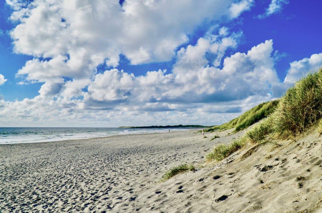 JÆREN (Norwegian Scenic Route Jæren): Orrestranda beach has plenty of space for sun lovers.