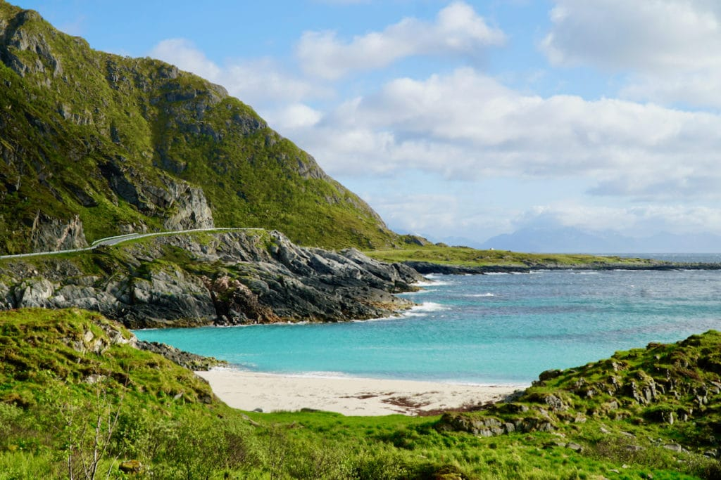 ANDØYA (Norwegian Scenic Route Andøya): Blue-green sea meets white sand.