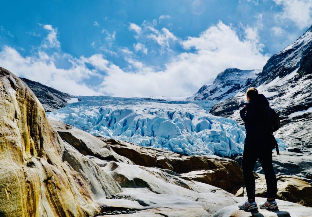 MELØY (Norwegian Scenic Route Helgelandskysten): Seeing the Svartisen glacier up close is a powerful sight.